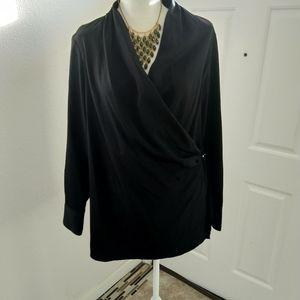Calvin Klein black blouse size large